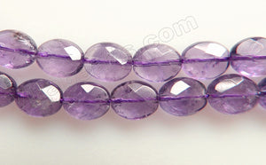 Amethyst (Light) -  Faceted Oval  16""