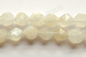 Moonstone Natural A  -  Diamond Cut Round 16""