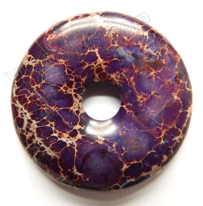 Smooth Pendant - Donut Purple Impression Jasper