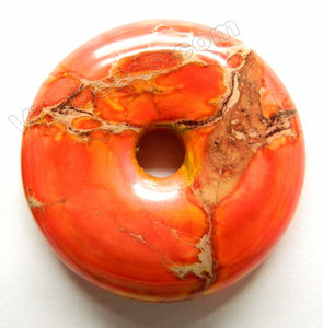 Smooth Pendant - Donut Orange Impression Jasper