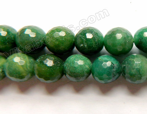 Africa Jade Natural  -  Faceted Round  15""