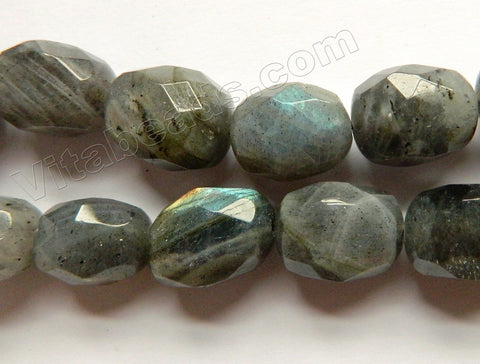 Labradorite Dark AAA  -  Machine Cut Egg Nuggets  16""