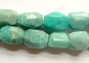 Light Russia Amazonite Natural A  -  Machine Cut Tumbles  16""