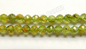 Peridot HK Natural w/ Brown  -  Faceted Round  15""