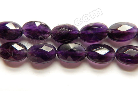 Amethyst Dark -  Faceted Oval  15""