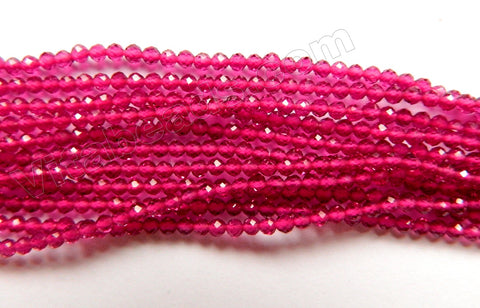 Ruby Crystal A  -  Small Faceted Round  15""