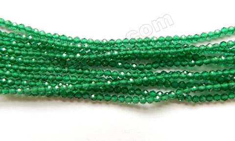 Emerald Crystal A  -  Small Faceted Round  15""