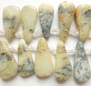 Africa Opal Natural AA  -  Graduated Smooth Top Drilled Long Drops 15""