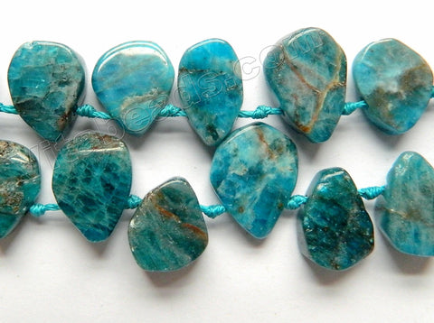Apatite Natural A  -  Top Drilled Irregular Drop Nuggets w/ Knots  16""