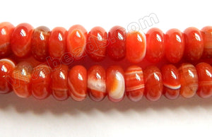 Carnelian w/ Stripes A  -  Smooth Rondel  15""
