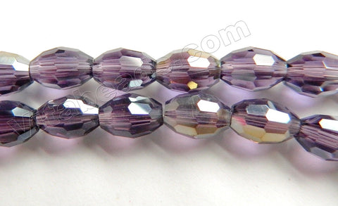 Coated Amethyst Crystal  -  Small Faceted Rice  11""