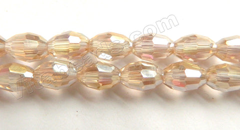 Coated Champ. Crystal  -  Small Faceted Rice  11""
