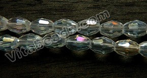 AB Crystal  -  Small Faceted Rice  11""