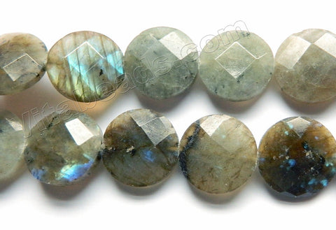 Labradorite  -  Faceted Coins  16""