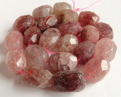 Ruby Strawberry Quartz Natural A  -  Faceted Tumble  15""