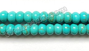 Cracked Chinese Turquoise  -  Smooth Tire, Smooth Rondel  16""