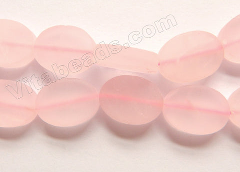 Matte Rose Quartz  -  Flat Oval  16""