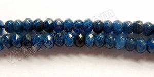 Dark Montana Blue Mashan Jade  -  Faceted Rondel  14""