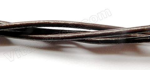 Handcraft Genuine Leather Cord  Dark Brown