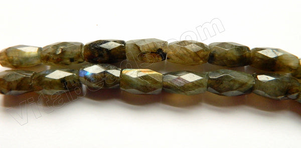 Dark Labradorite   -  Faceted Drum  9""