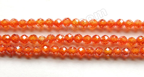 Orange Garnet AAA  -  Small Faceted Round 15.5""