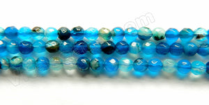 Blue Sardonix Agate  -  Small Faceted Round 15""