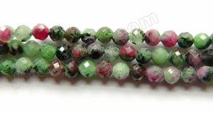 Ruby Zoisite Natural AA  -  Small Faceted Round 15""