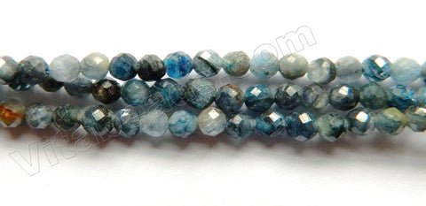 Dark Blue Kyanite Natural A  -  Small Faceted Round 15""