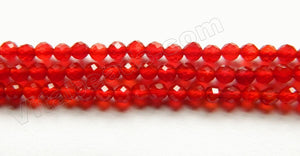 Dark Carnelian AA  -   Small Faceted Round  15""