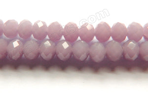 Light Lilac Quartz  -  Faceted Rondel   16""