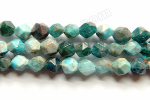Light Multi Apatite Natural  -  Diamond Cut Round  15""