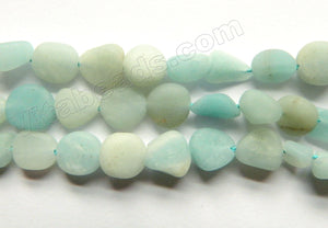 Matte Amazonite  -  Free Form Smooth Tumbles  16""