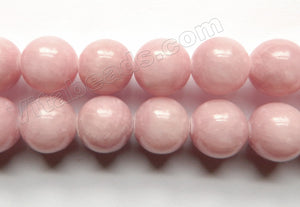 Light Pink Peach Mashan Jade  -  Big Smooth Round  16""