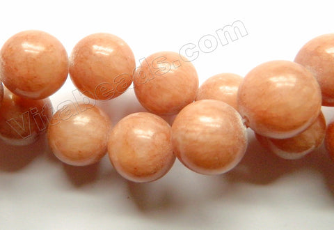 Light Brown Mashan Jade  -  Big Smooth Round  16""