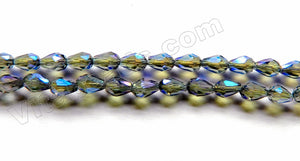 Plated Dark Purple Blue Green Mystic Crystal  -  Small Faceted Drops 18""