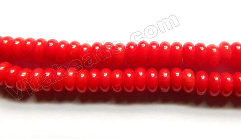 Red Bamboo Coral  -  Smooth Wheel 15.5""
