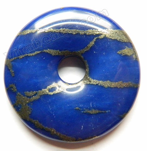 Smooth Pendant - Donut Lapis Pyrite AA