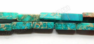 Deep Aqua Impression Jasper  -  Rectangle 16""
