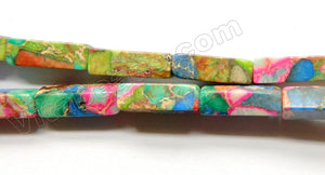 Rainbow Impression Jasper  -  Rectangle 16""