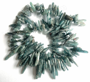 Deep Blue Green Kyanite  -  Long Sticks 16""