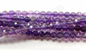Amethyst AAA  -  Small Faceted Round   16""