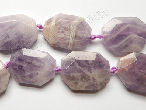 Cape Amethyst Natural  - Faceted Octagon w/ Spacer  16""