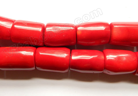 Red Bamboo Coral AA  -  Free Form Tube Nuggets  15""