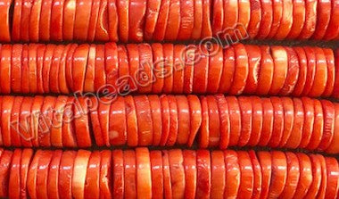 Orange Bamboo Coral A  -  Big Thin Wheel  16""