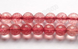 Explosion Crystal Natural - Dyed Ruby Color  - Faceted Round