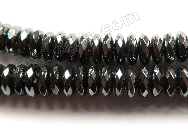 Hematite  -  Faceted Saucers  16""