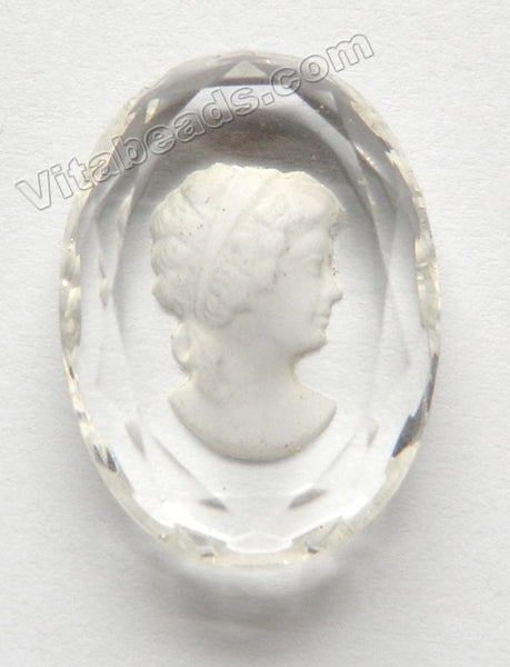 Natural Crystal AAA   Carved Cameo Oval Cab