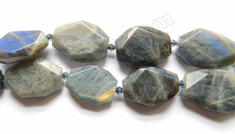 Labradorite Natural AAA  -  Irregular Faceted Flat  16""