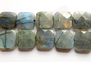 Labradorite AAA  -  Faceted Squares 16""