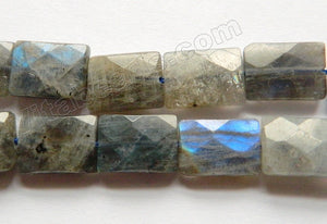 Labradorite AA  -  Faceted Rectangles  16""